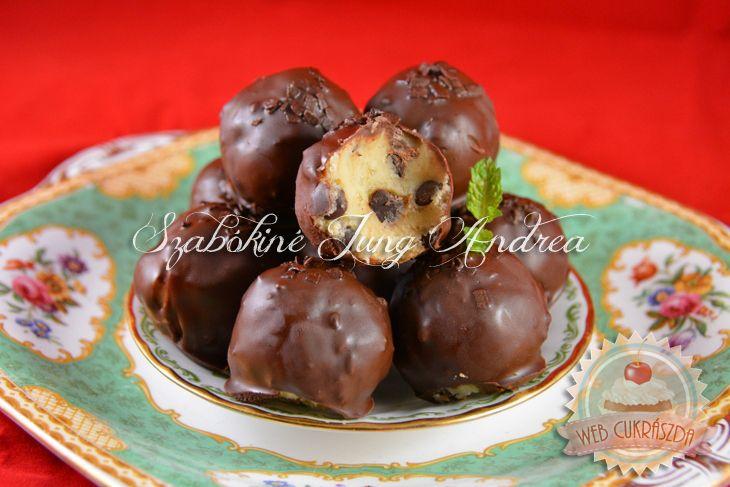 Csokidarabkás süti tészta trüffel (Cookie Dough)