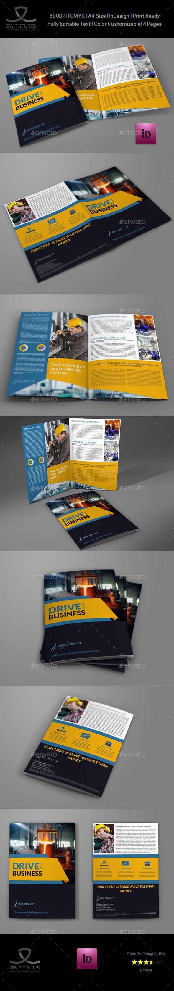 Industrial Company Brochure Bi-Fold Template Vol2