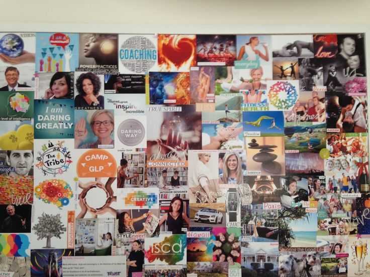 My personal vision board 2015 - 2017!