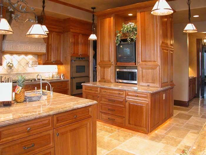 Cherrywood Natural Cabinets | Description: Natural Cherry Wood Custom Kitchen  Cabinetry