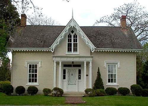 carpenter gothic houses in canada had similar proportions to those in the united states but their walls were masonry or stucco - Gothic Revival Farmhouse Plans