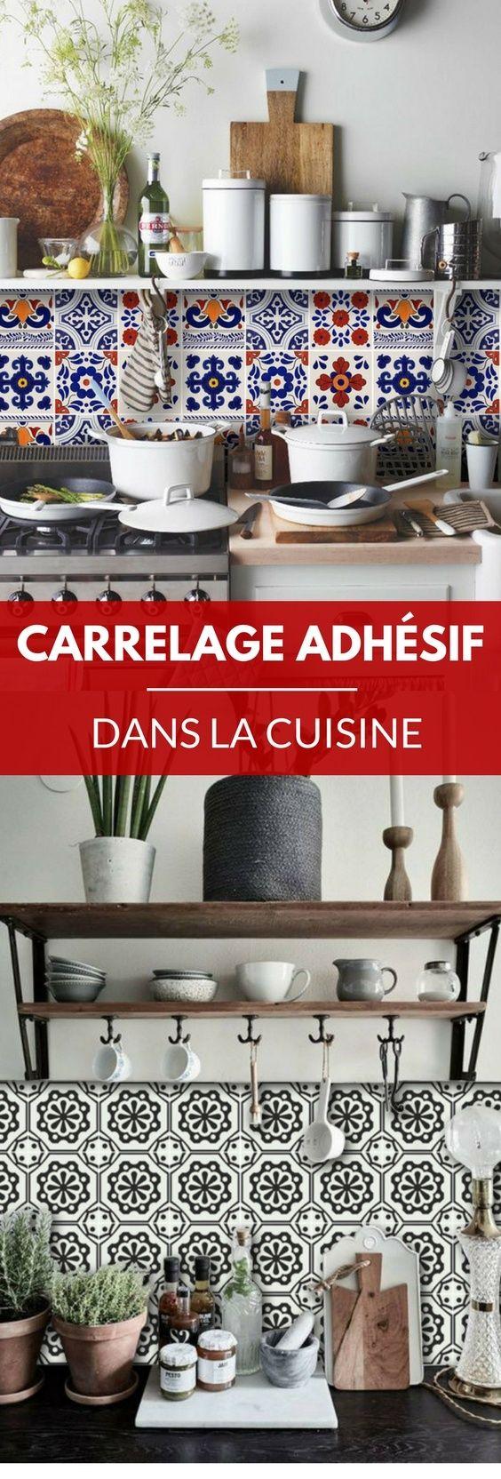 17 meilleures id es propos de carrelage adhesif sur pinterest carrelage a - Adhesif carrelage cuisine ...