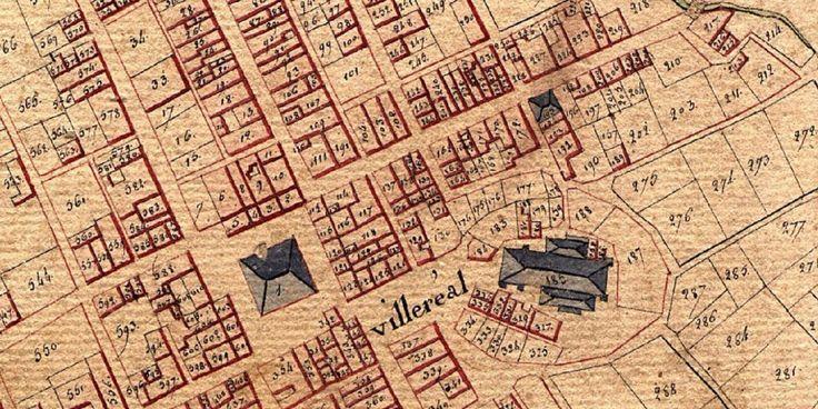 Villeréal va célébrer les 750 ans de sa fondation, sur trois ans, de 2017 à 2019 : le cadastre napoléonien (1809) offre des pistes de recherche historique intéressantes.