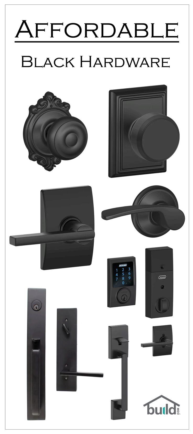 Black door hardware is a simple way to clean up the look