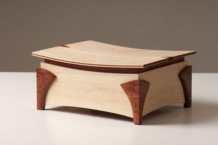 Tony Clark - Jewellery Box - American Maple, Bubinga