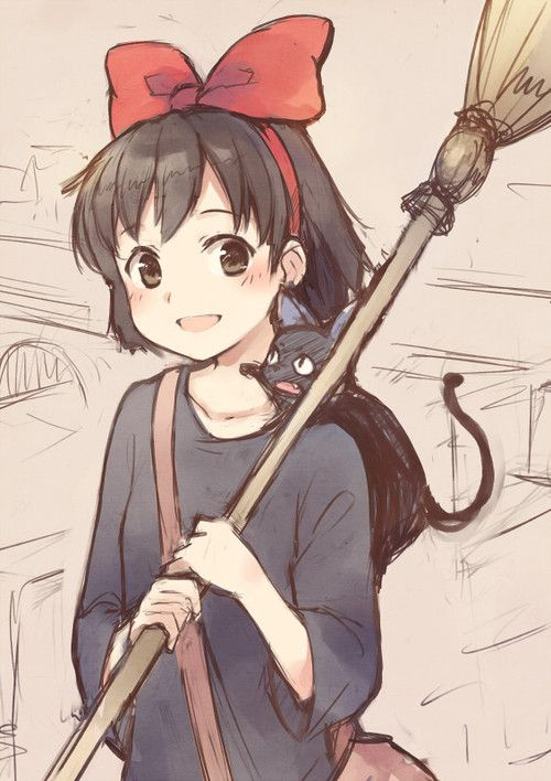 It would've been so awesome if I was Kiki for Halloween and my cat could cosplay with me :)