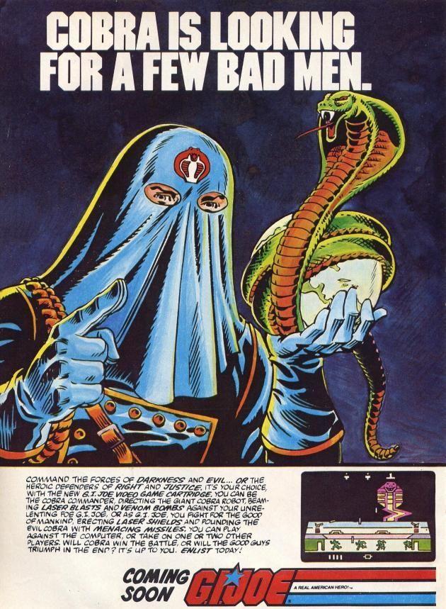 """Cobra is looking for a few bad men."" to play the GI Joe Atari 2600 Video Game"