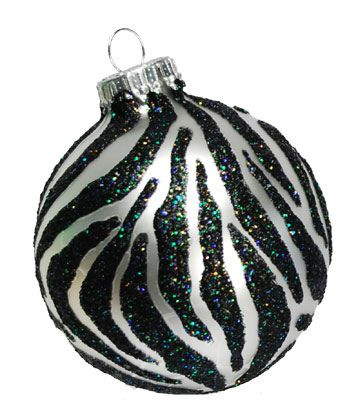 90 best Black and White Christmas Ornaments images on Pinterest