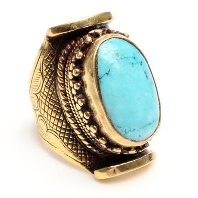 Saddle Turquoise Ring