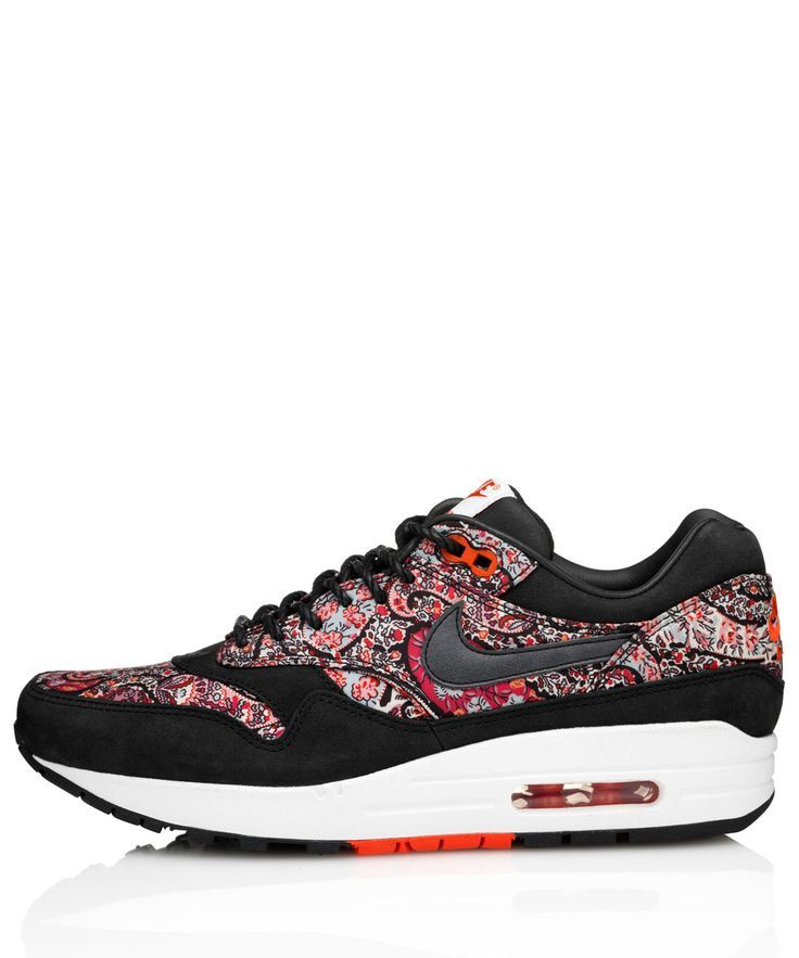 Homegirl London finds the Black Bourton Liberty Print Nike Air Max 1  Trainers. Liberty London has covered these trainers in their paisley Bourton  fabric.
