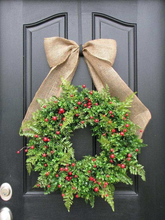 more Christmas wreaths