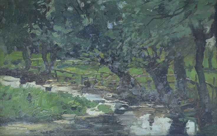 Cornelis Kuypers (1864-1932) Titel: Wilgen aan een sloot - Artiquair