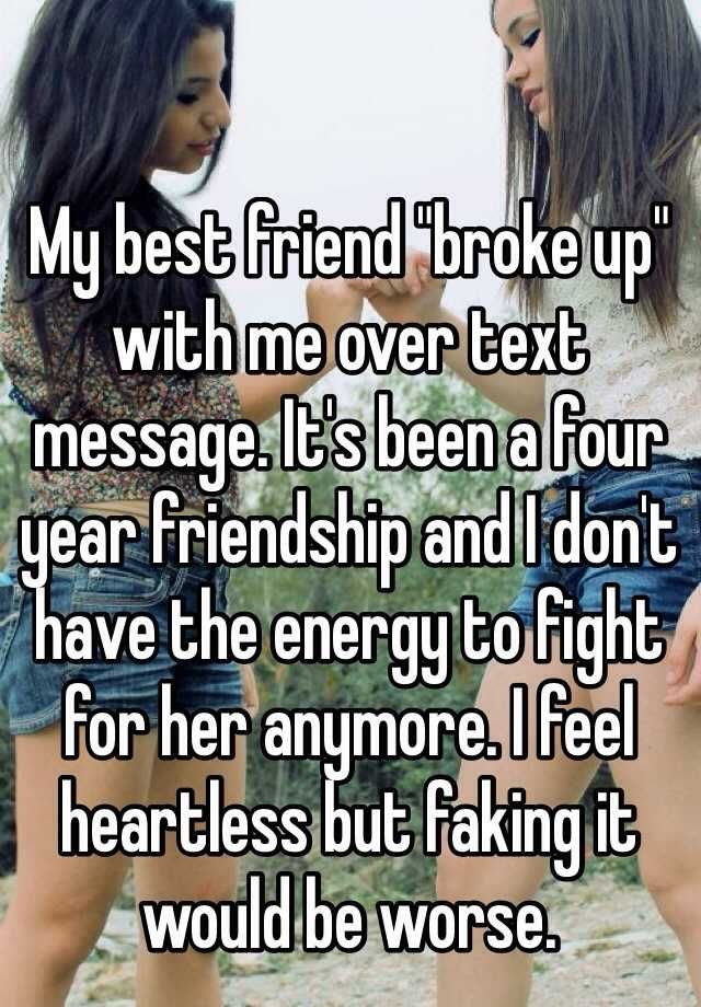 how to explain a break up to friends