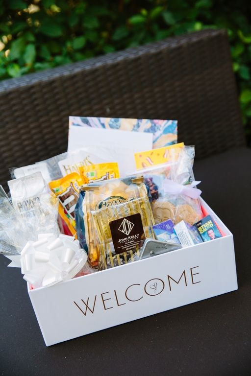 Guest Welcome Baskets Creative Intelligence Inc Tory Williams Photography Theknot