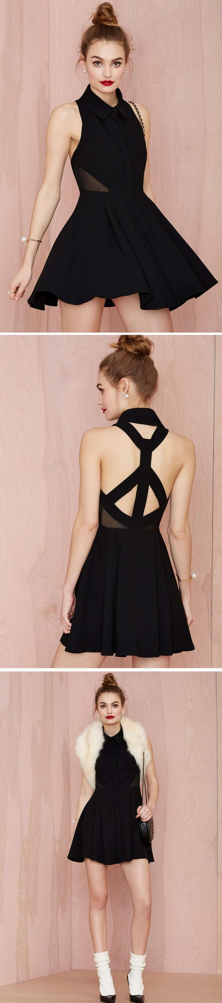 Nasty Gal Black Magic Woman Dress