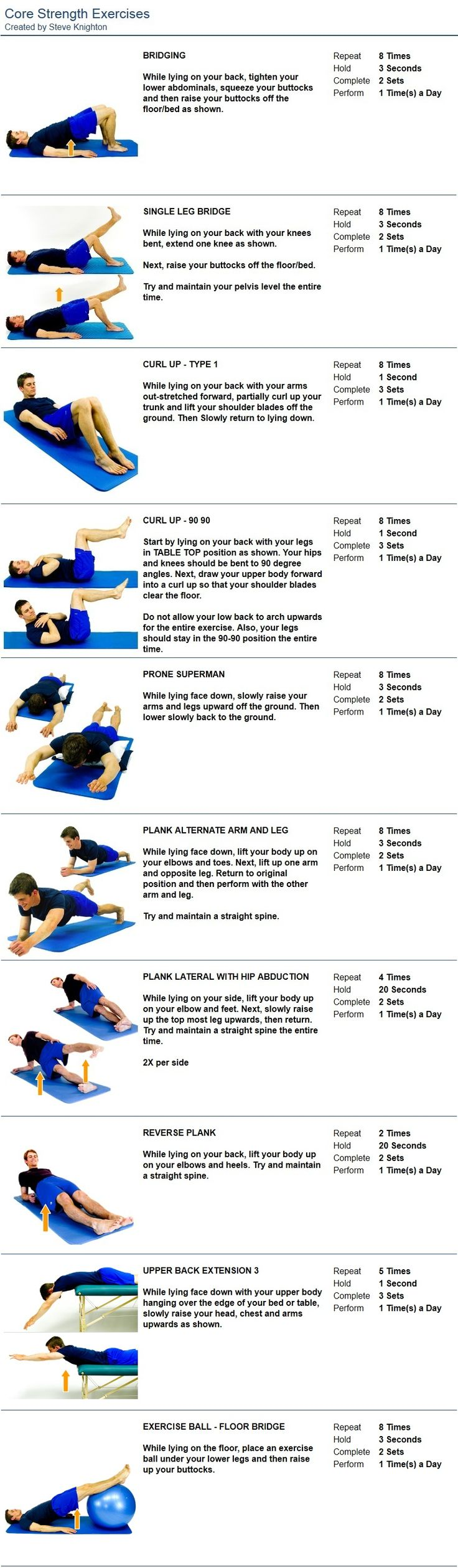 17 Best Images About Core Strength Exercises On Pinterest