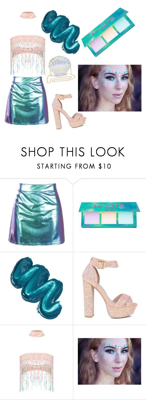 """""""Mermaid 🐚🌊"""" by echo027 ❤ liked on Polyvore featuring Lime Crime, Mermaid Salon and Jaded"""