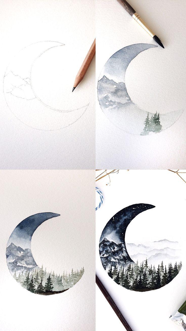 (Rosie Shriver.sketchbook) Prozessfotos zur Aquarellmalerei. #Aquarell #Wasser …..  – Journal ideen