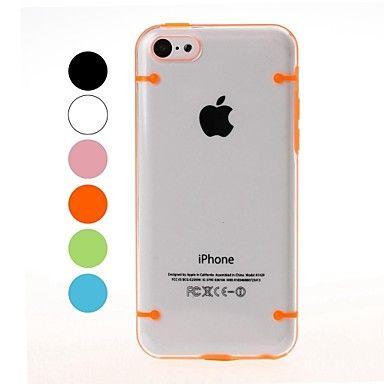 Twee+Kleuren+transparante+plastic+kast+en+TPU+Frame+voor+iPhone+5C+–+EUR+€+2.93