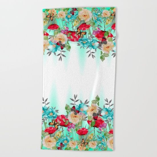 Lay out like a pro with this super comfy, oversized and unique artist-designed… #flowers #art #butterflies #homedecor