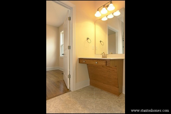 Fully Wheelchair Accessible Mother In Law Suite Bathroom With Roll Under Vanity Accessible