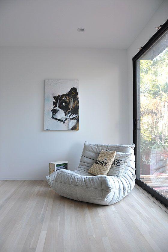 Whitewashed oak floors topped with Bona Naturale matte finish