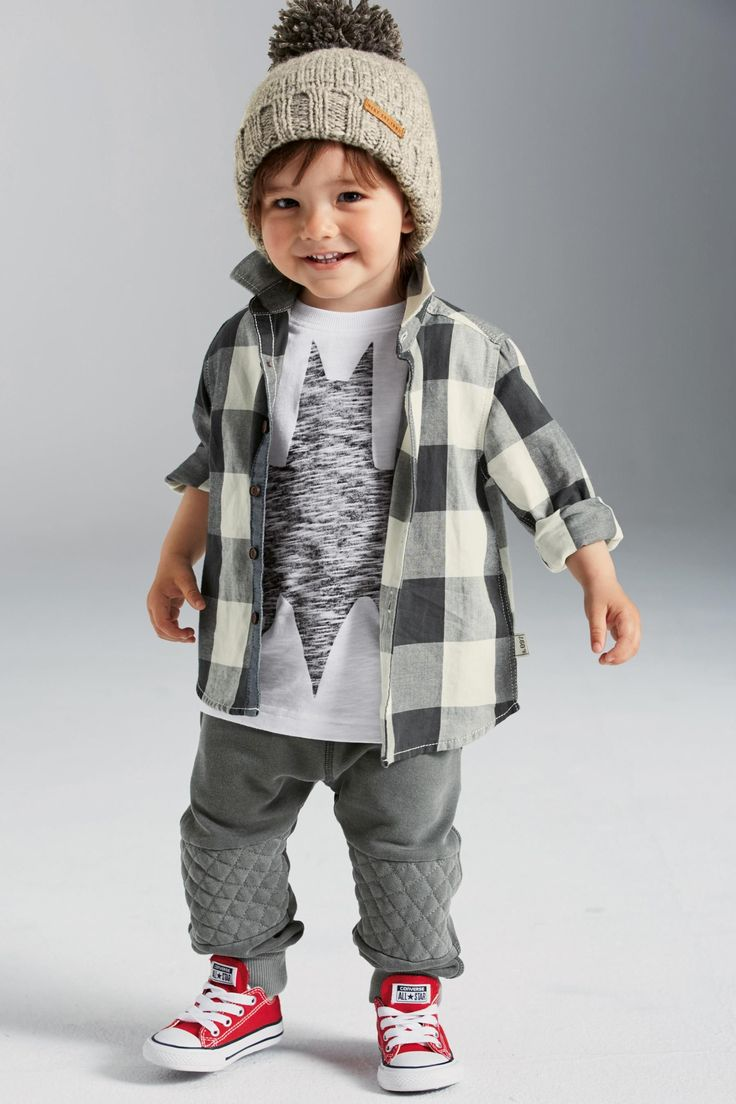 Buy Grey Check Long Sleeve Shirt (3mths-6yrs) from the Next UK online shop