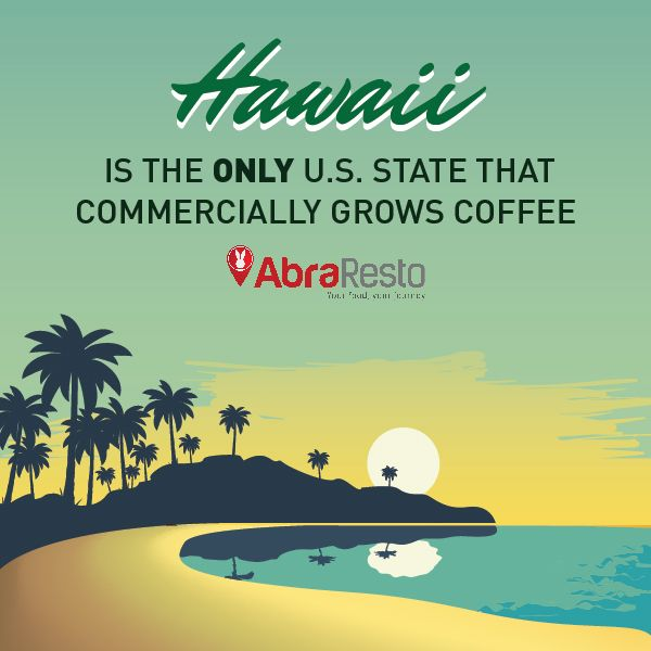 Hawaii is the only U.S state that commercially grows Coffee