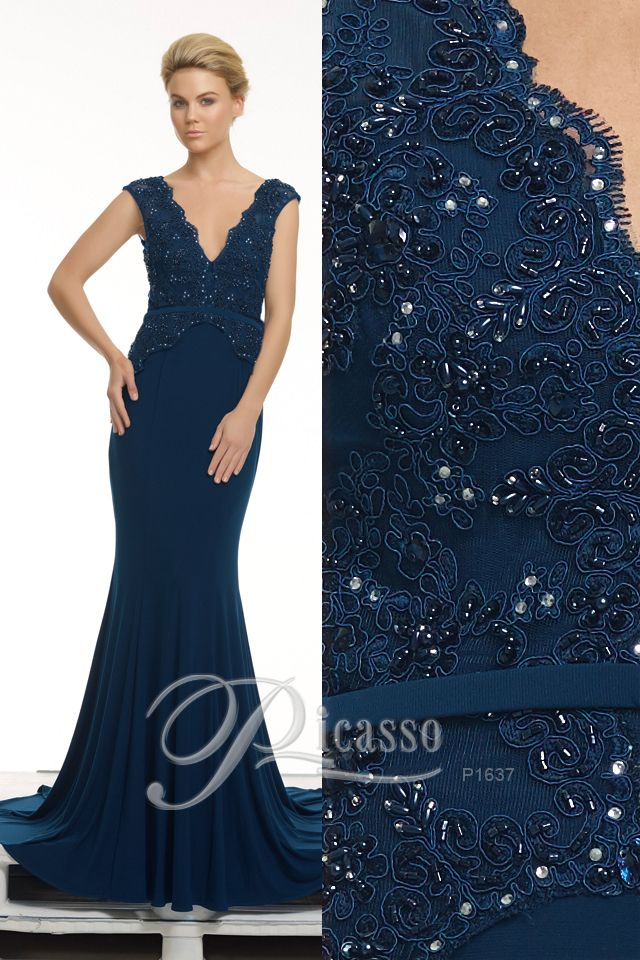 P1637 #Picasso Navy with beautiful detailing of the bodice. Visit www.tinaholy.com.au for stockists!