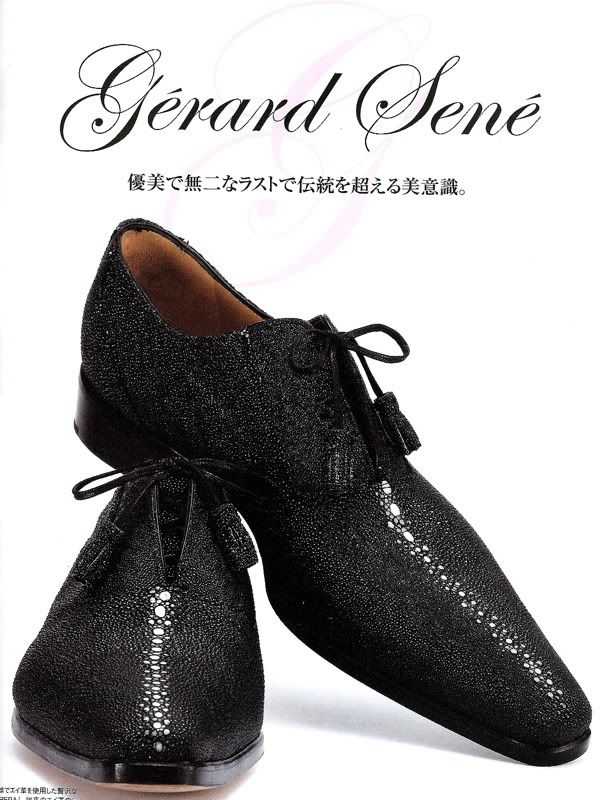 Gérard Sené stingray leather (previous pinner pinned as -Tom Ford Crocodile Shoes-) | Black tie and alligator shoes?