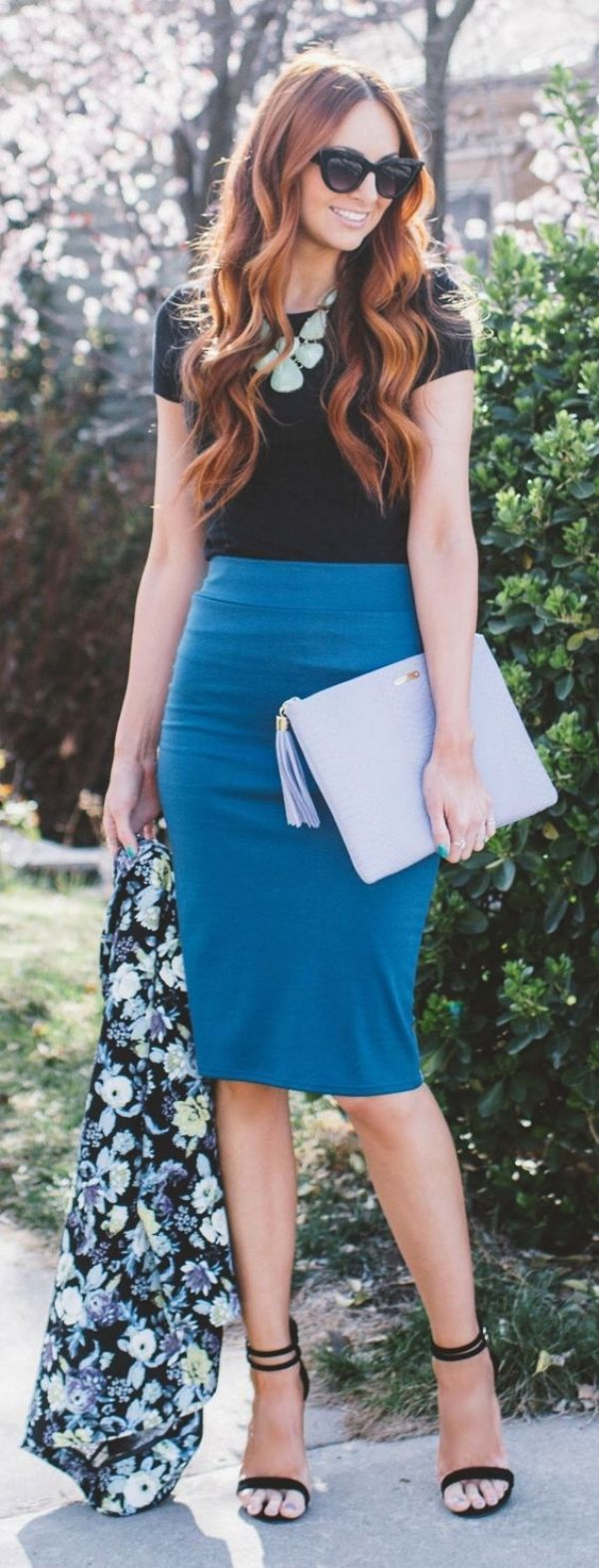 <3 Pastel Pencil Skirt <3 Spring Work Outfits <3
