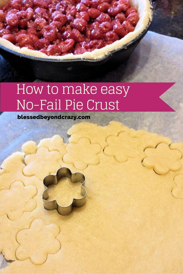 Speedy Homemade Pie Crust - so easy, so delicious! #blessedbeyondcrazy #piecrust #pie