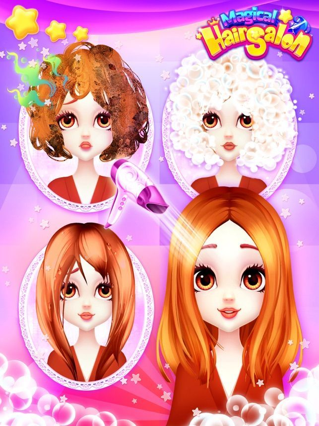 Hair Salon Games Girls Makeup On The App Store Free Girl Games Hair Styling Hair Style Girl App The Hairstyle Hair Salon Games Hair Game Free Girl Games