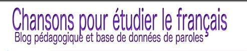 Chansons pour étudier le français (vidéos & paroles) | Blog pédagogique et base de données