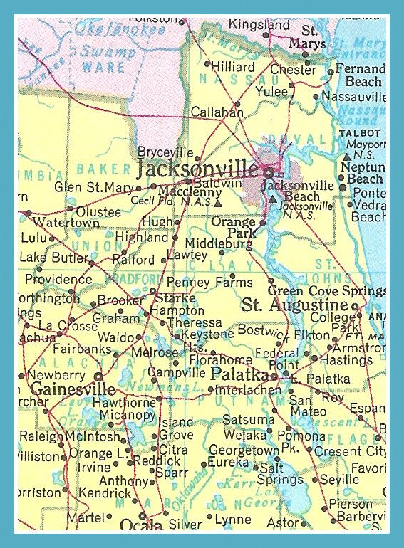 Fridge Magnet map of Jacksonville Florida and by catchingcanaries ...