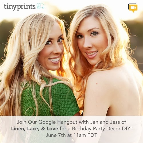 Join us on Friday at 11am for a Birthday Party Decor DIY - Google+ Hangout! Click the picture to RSVP today!