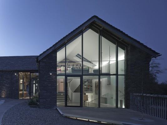 Modern stone barn