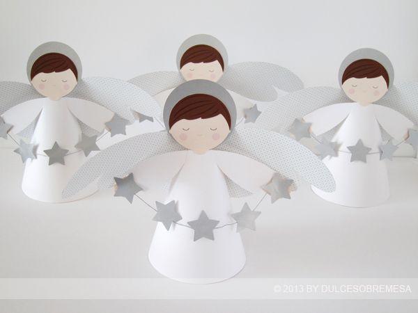 DULCESOBREMESA: BAUTIZOS : ANGELES Y ESTRELLAS / BAPTISM: STARS AND ANGELS