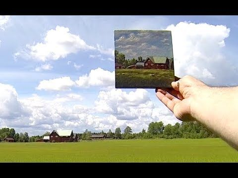 Acrylic Painting Demo In Real Time - Painting A Country Side Farm With A...