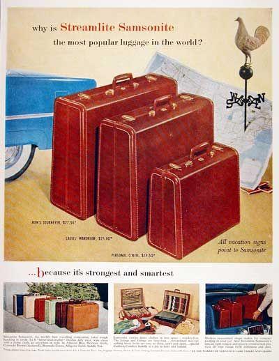 11 best Vintage Samsonite Ads images on Pinterest | Vintage ...
