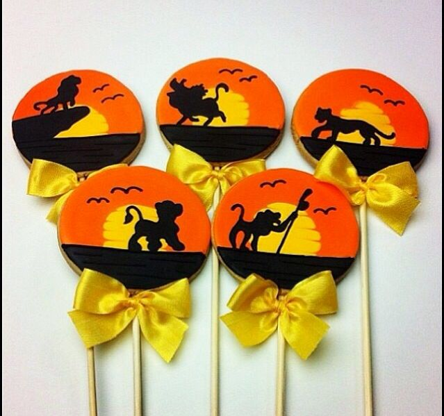 Lion King Cookie Pops