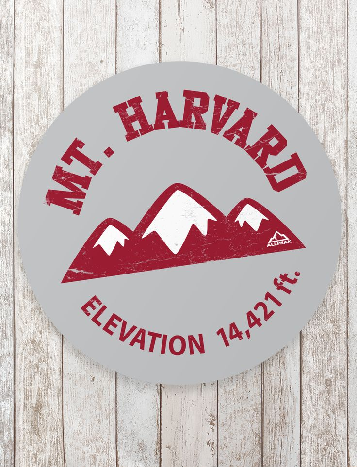 Mount harvard sticker