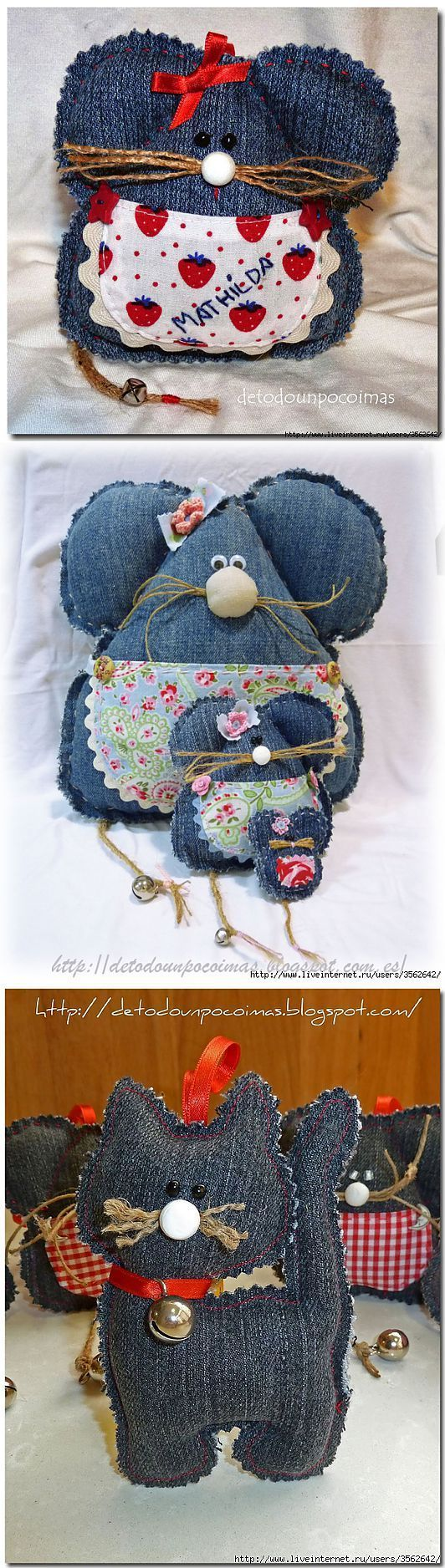 pot pourri idea with recycled jeans