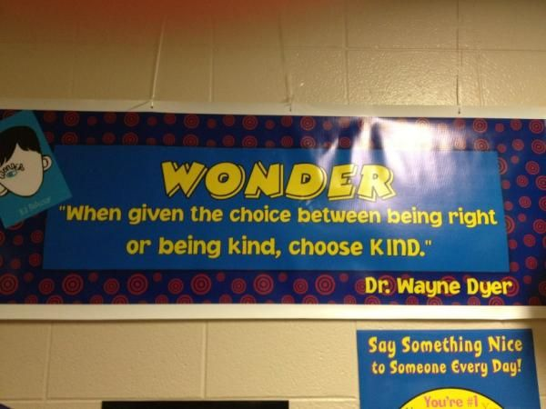 Twitter / LibraryFanatic: New banner in our 6th grade hallway!