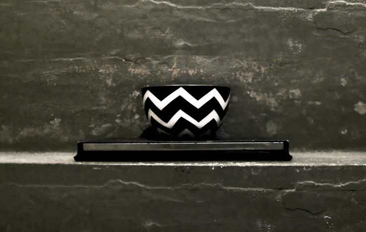 frjor . six bowls . six different patterns . black and white . Anna Becker . www.frjor.com