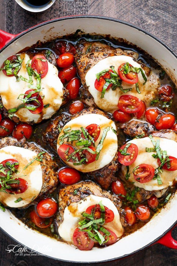 balsamic-glazed-caprese-chicken | http://cafedelites.com