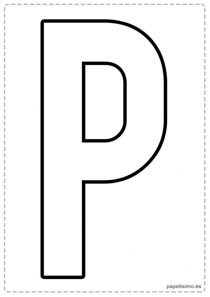 P letras para recortar y pegar guirnalda feliz cumpleaños