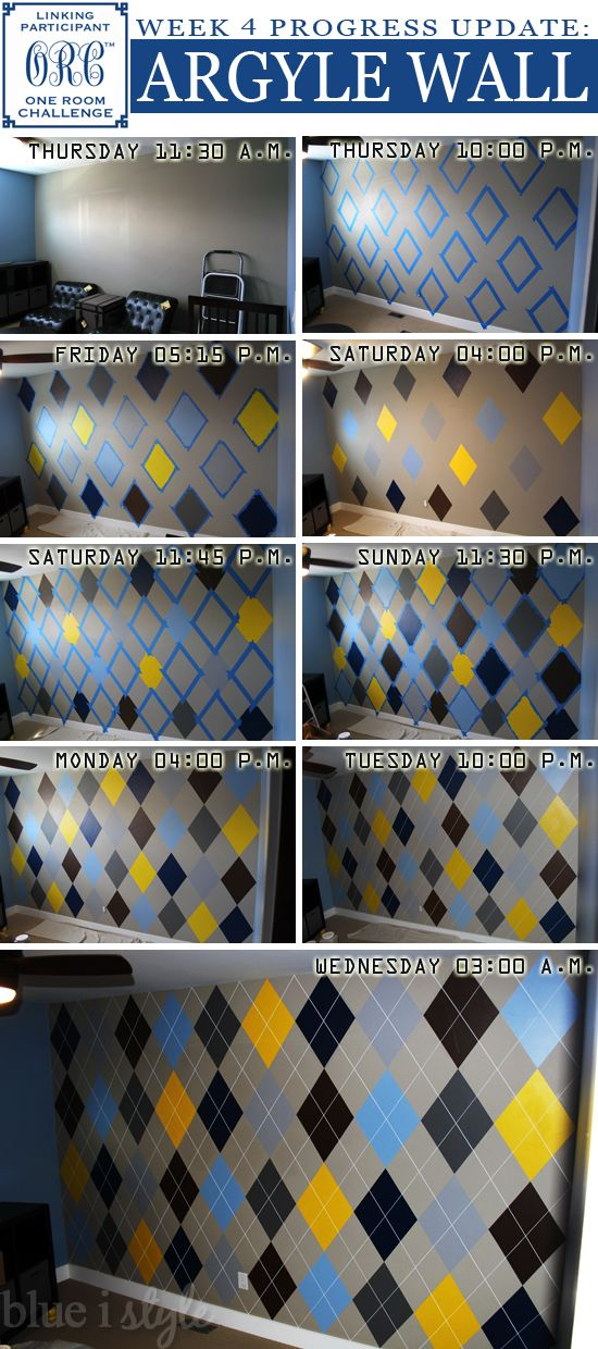 DIY Argyle Wall