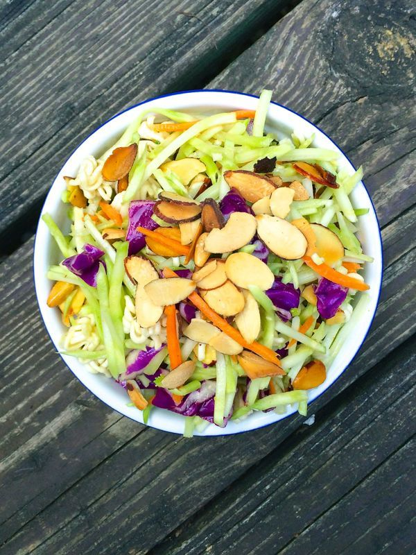 Asian Broccoli Slaw - The Lemon Bowl #salad #healthy #sidedish
