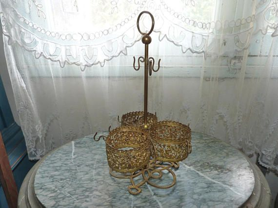 ♤❦ #Antique #French floral ormolu #stand for liquor glasses decanter set cor... Best http://etsy.me/2zjJ3YN